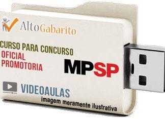 Curso Concurso Ministério Público – SP – Oficial de Promotoria – Videoaulas Pendrive