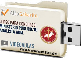 Curso Concurso Ministério Público – RJ – Analista Administrativo – Videoaulas Pendrive
