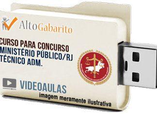 Curso Concurso Ministério Público – RJ – Técnico Administrativo – Videoaulas Pendrive
