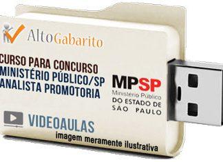 Curso Concurso Ministério Público – SP – Analista Promotoria – Videoaulas Pendrive