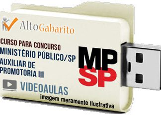 Curso Concurso Ministério Público – SP – Auxiliar Promotoria III – Videoaulas Pendrive