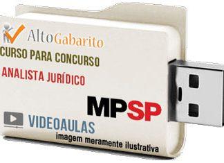Curso Concurso Ministério Público – SP – Analista Jurídico – Videoaulas Pendrive