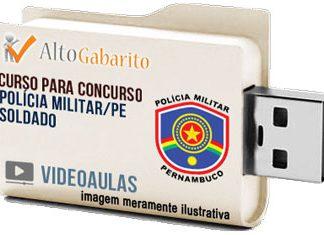 Curso Concurso Polícia Militar – PE – Soldado PM – Videoaulas Pendrive