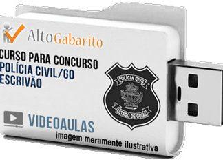Curso Concurso Polícia Civil – GO – Escrivão – Videoaulas Pendrive