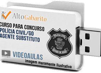 Curso Concurso Polícia Civil – GO – Agente Substituto – Videoaulas Pendrive
