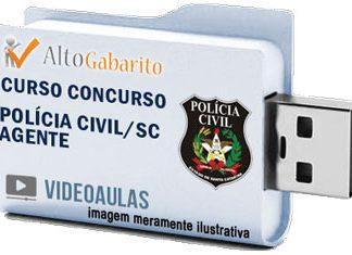 Curso Concurso Polícia Civil – SC – Agente – Videoaulas Pendrive