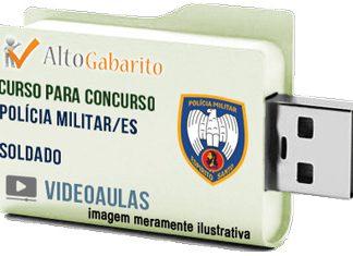 Curso Concurso Polícia Militar – ES – Soldado Combatente – Videoaulas Pendrive