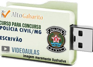 Curso Concurso Polícia Civil – MG – Escrivão – Videoaulas Pendrive