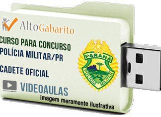 Curso Concurso Polícia Militar – PR – Cadete Oficial – Videoaulas Pendrive