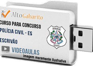 Curso Concurso Polícia Civil – ES – Escrivão – Videoaulas Pendrive