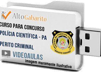 Curso Concurso Polícia Científica – PA – Perito Criminal – Videoaulas Pendrive