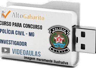 Curso Concurso Polícia Civil – MG – Investigador – Videoaulas Pendrive