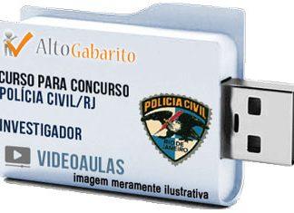 Curso Concurso Polícia Civil – RJ – Investigador – Videoaulas Pendrive