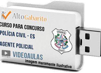 Curso Concurso Polícia Civil – ES – Agente – Videoaulas Pendrive