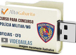Curso Concurso Polícia Militar – MG – Oficial PM CFO – Videoaulas Pendrive