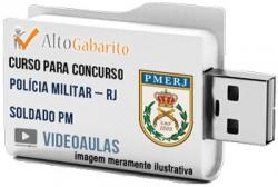 Curso Concurso Polícia Militar – RJ – Soldado PM – Videoaulas Pendrive