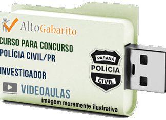 Curso Concurso Polícia Civil – PR – Investigador – Videoaulas Pendrive
