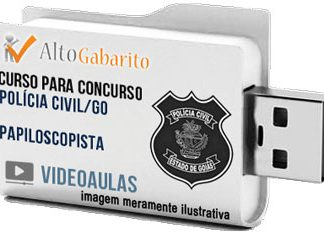 Curso Concurso Polícia Civil – GO – Papiloscopista – Videoaulas Pendrive