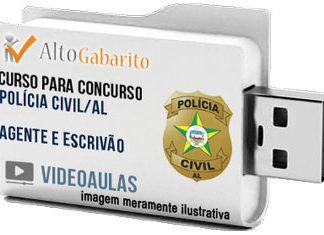 Curso Concurso Polícia Civil – AL – Agente – Escrivão – Videoaulas Pendrive