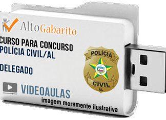 Curso Concurso Polícia Civil – AL – Delegado – Videoaulas Pendrive