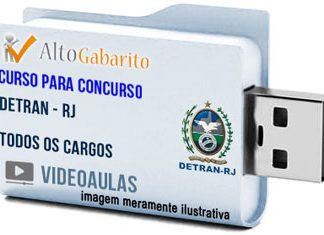 Curso Concurso Detran – RJ – Todos os Cargos – Videoaulas Pendrive
