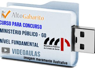 Curso Concurso Ministério Público – GO – Nível Fundamental – Videoaulas Pendrive