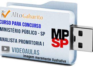 Curso Concurso Ministério Público – SP – Auxiliar Promotoria I – Videoaulas Pendrive