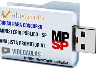 Curso Concurso Ministério Público – SP – Analista Promotoria I – Videoaulas Pendrive