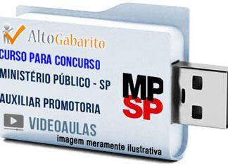 Curso Concurso Ministério Público – SP – Auxiliar de Promotoria – Videoaulas Pendrive