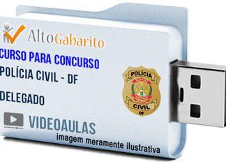 Curso Concurso Polícia Civil – DF – Delegado – Videoaulas Pendrive