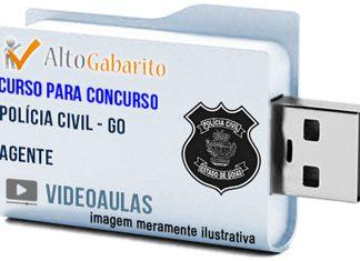 Curso Concurso Polícia Civil – GO – Agente – Videoaulas Pendrive