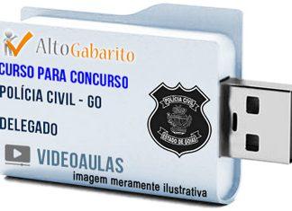 Curso Concurso Polícia Civil – GO – Delegado – Videoaulas Pendrive