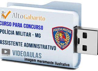 Curso Concurso Polícia Militar – MG – Assistente Administrativo – Videoaulas Pendrive