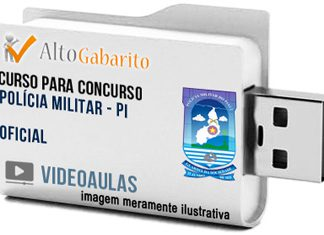 Curso Concurso Polícia Militar – PI – Oficial – Videoaulas Pendrive