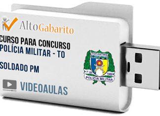 Curso Concurso Polícia Militar – TO – Soldado PM – Videoaulas Pendrive
