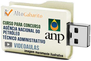 Curso Concurso ANP – Técnico Administrativo – Videoaulas Pendrive