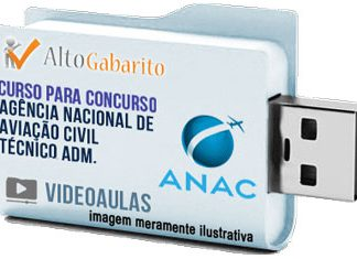 Curso Concurso ANAC – Técnico Administrativo – Videoaulas Pendrive