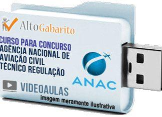 Curso Concurso ANAC – Técnico Regulação – Videoaulas Pendrive