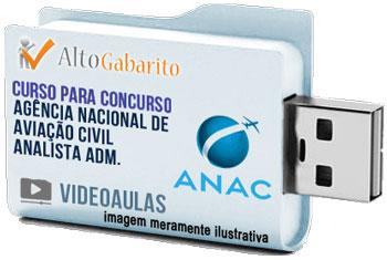 Curso Concurso ANAC – Analista Administrativo – Videoaulas Pendrive