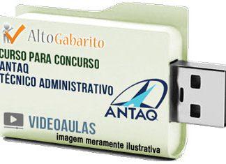 Curso Concurso ANTAQ – Técnico Administrativo – Videoaulas Pendrive