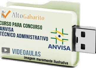 Curso Concurso ANVISA – Técnico Administrativo – Videoaulas Pendrive