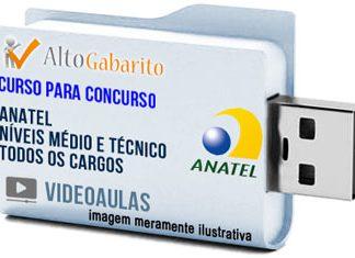 Curso Concurso Anatel – Todos Cargos – Médio e Técnico – Videoaulas Pendrive