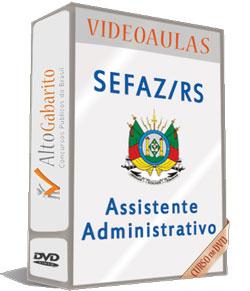 Curso Concurso SEFAZ – RS – Assistente Administrativo – Videoaulas DVDs