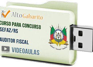 Curso Concurso SEFAZ – RS – Auditor Fiscal – Videoaulas Pendrive