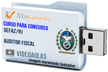 Curso Concurso SEFAZ – RJ – Auditor Fiscal – Videoaulas Pendrive