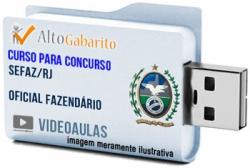 Curso Concurso SEFAZ – RJ – Oficial Fazendário – Videoaulas Pendrive