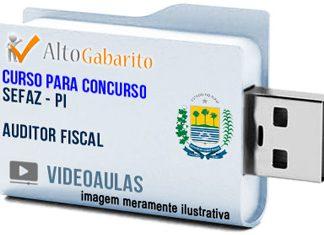 Curso Concurso SEFAZ – PI – Auditor Fiscal – Videoaulas Pendrive