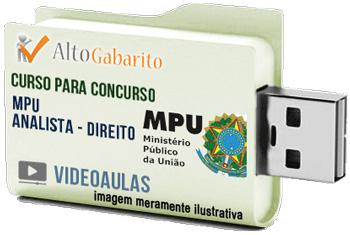 Curso Concurso MPU – Analista – Direito – Videoaulas Pendrive