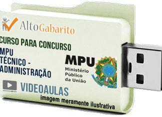 Curso Concurso MPU – Técnico Administração – Videoaulas Pendrive