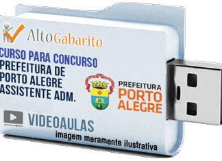 Curso Concurso Prefeitura Porto Alegre – Assistente Administrativo – Videoaulas Pendrive